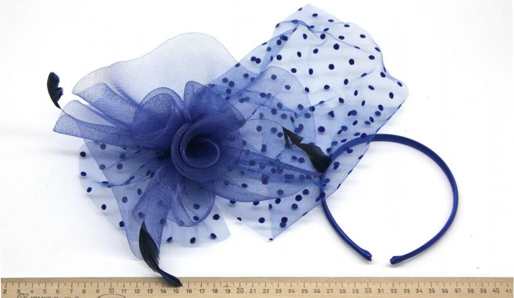 Мини-шляпка W05-155Син