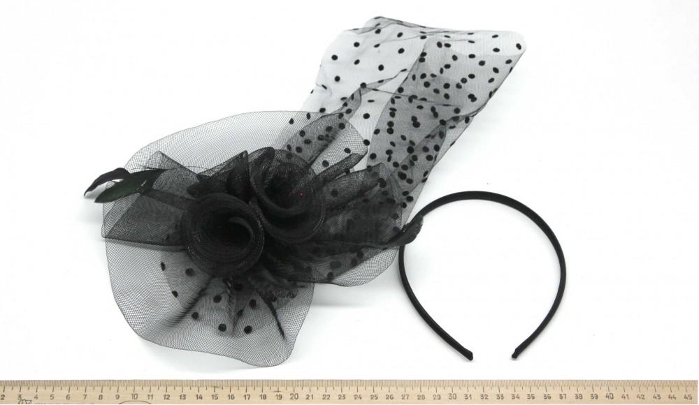 Мини-шляпка W05-155Черн