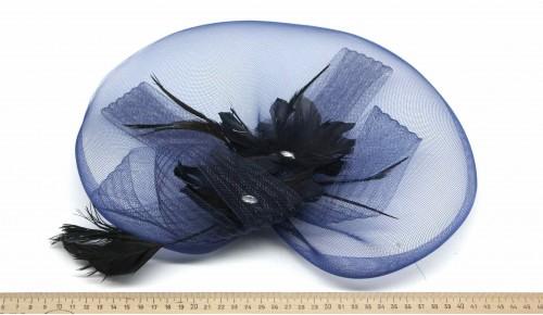Мини-шляпка W05-172Син