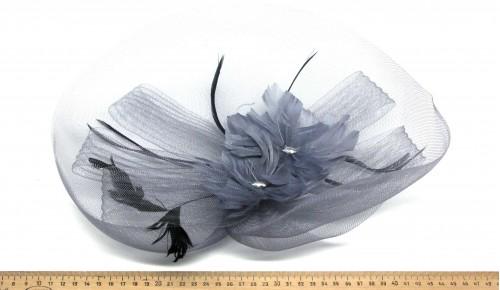 Мини-шляпка W05-172Сер