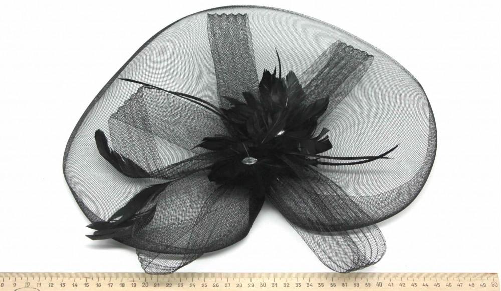 Мини-шляпка W05-172Черн