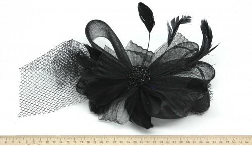 Мини-шляпка W05-176Черн