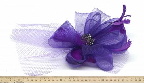 Мини-шляпка W05-176Фиол