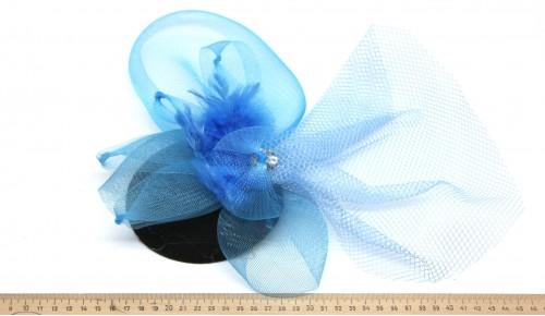 Мини-шляпка W05-170Син