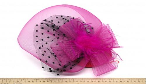 Мини-шляпка W05-57Роз