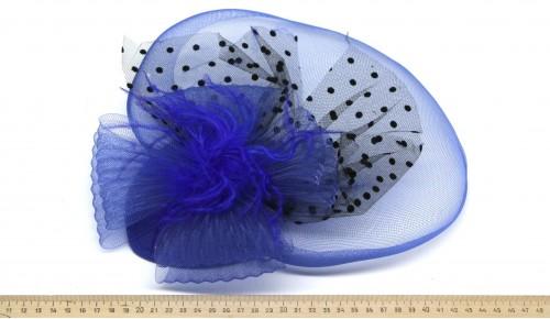 Мини-шляпка W05-57Син