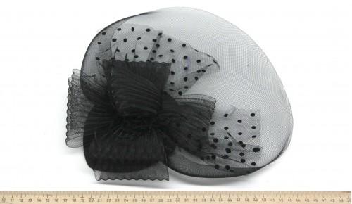 Мини-шляпка W05-57Черн