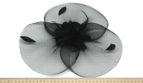 Мини-шляпка W05-174Черн