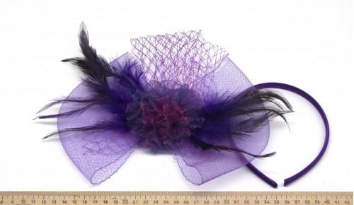 Мини-шляпка W05-152Фиол