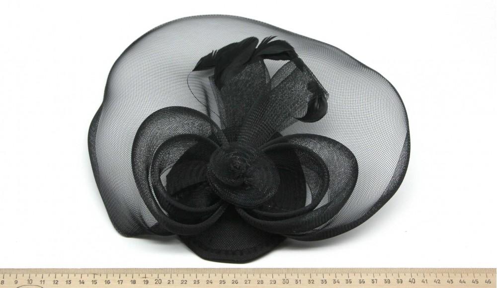 Мини-шляпка W05-6Черн