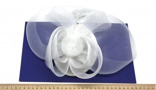 Мини-шляпка W05-6Бел