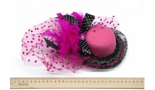 Мини-шляпка W05-184Роз