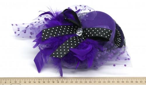 Мини-шляпка W05-184Син